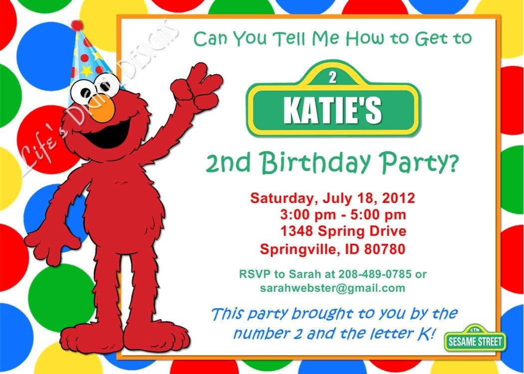 Printable Elmo Birthday Invitations Free