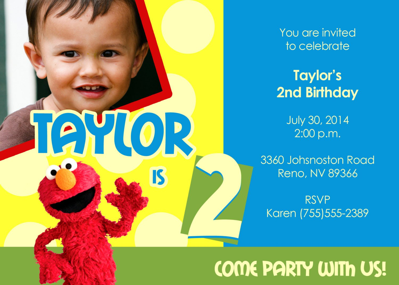 Printable Elmo Invitations For Free