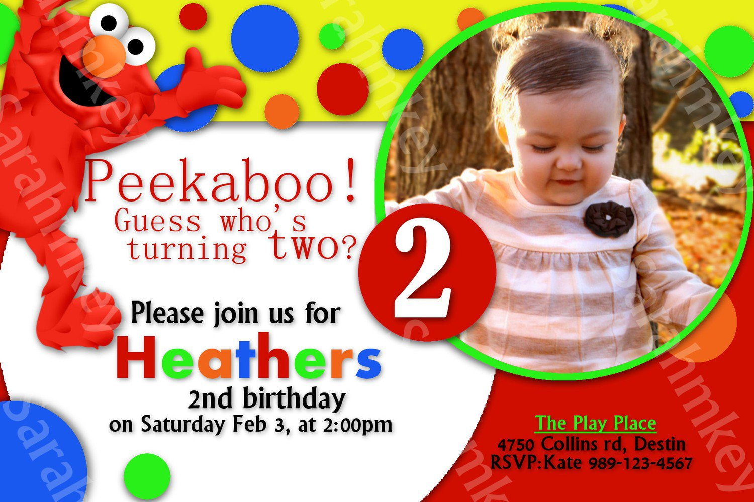 Printable elmo invitations for free for Elmo template for invitations