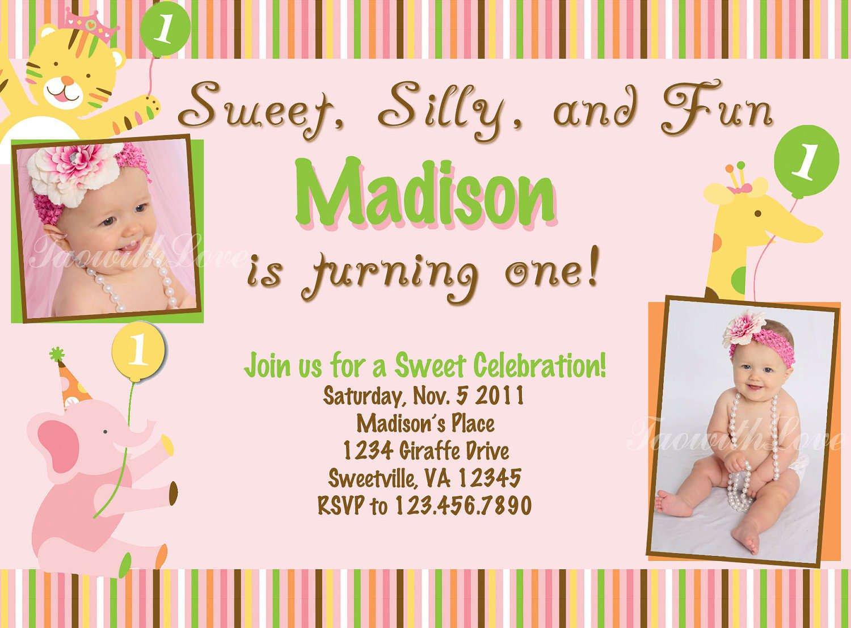 Printable First Birthday Invitation Templates
