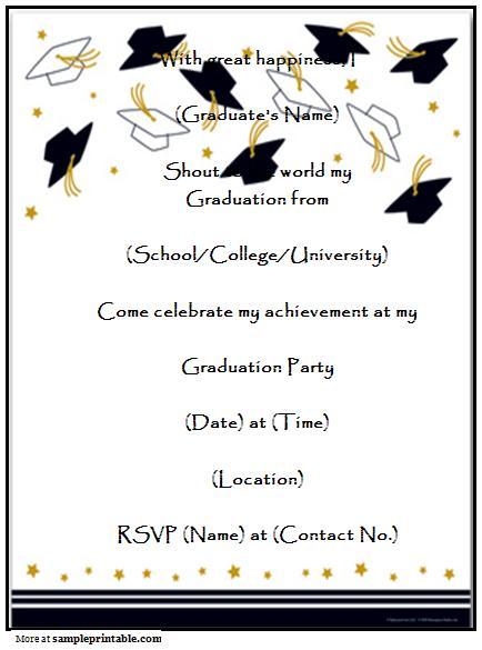 Printable Graduation Announcement Templates 2015