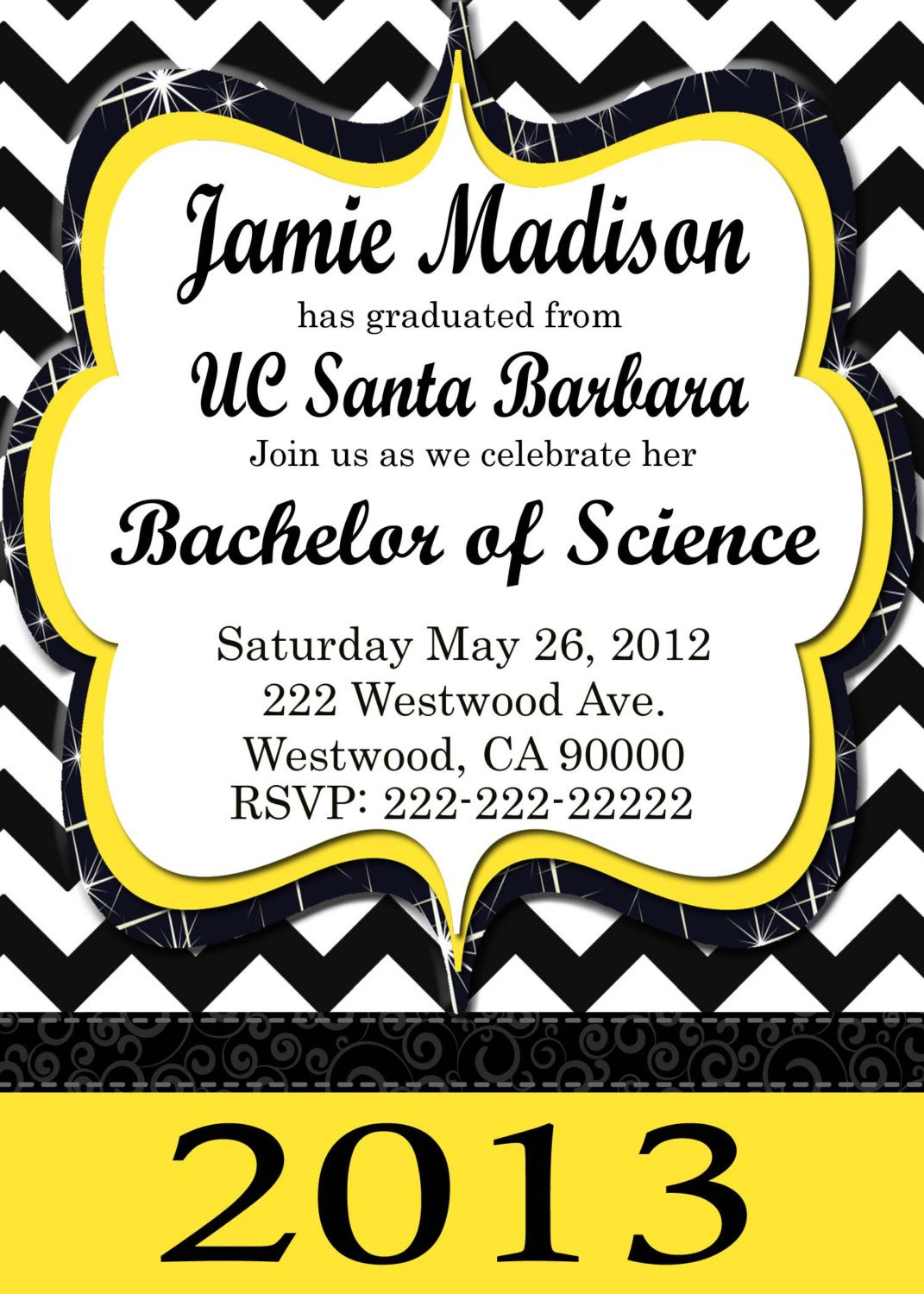 Printable Graduation Party Invitations 2013