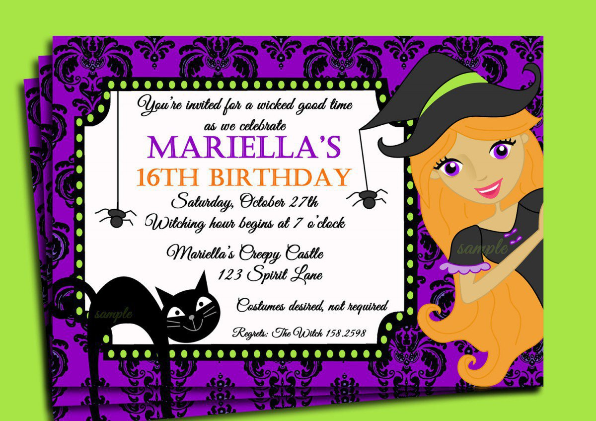 Printable Halloween Birthday Invitations 2015