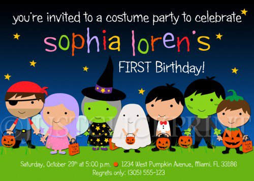 Printable Halloween Birthday Invitations 2018