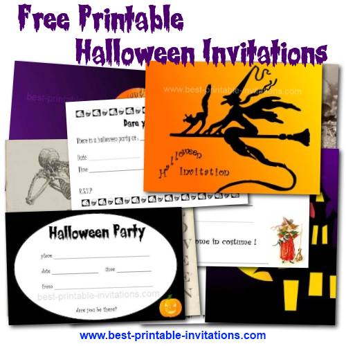 Printable Halloween Birthday Invitations