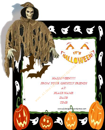 Printable Halloween Invitation Cards 2015