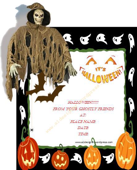 Printable Halloween Invitation Cards 2015