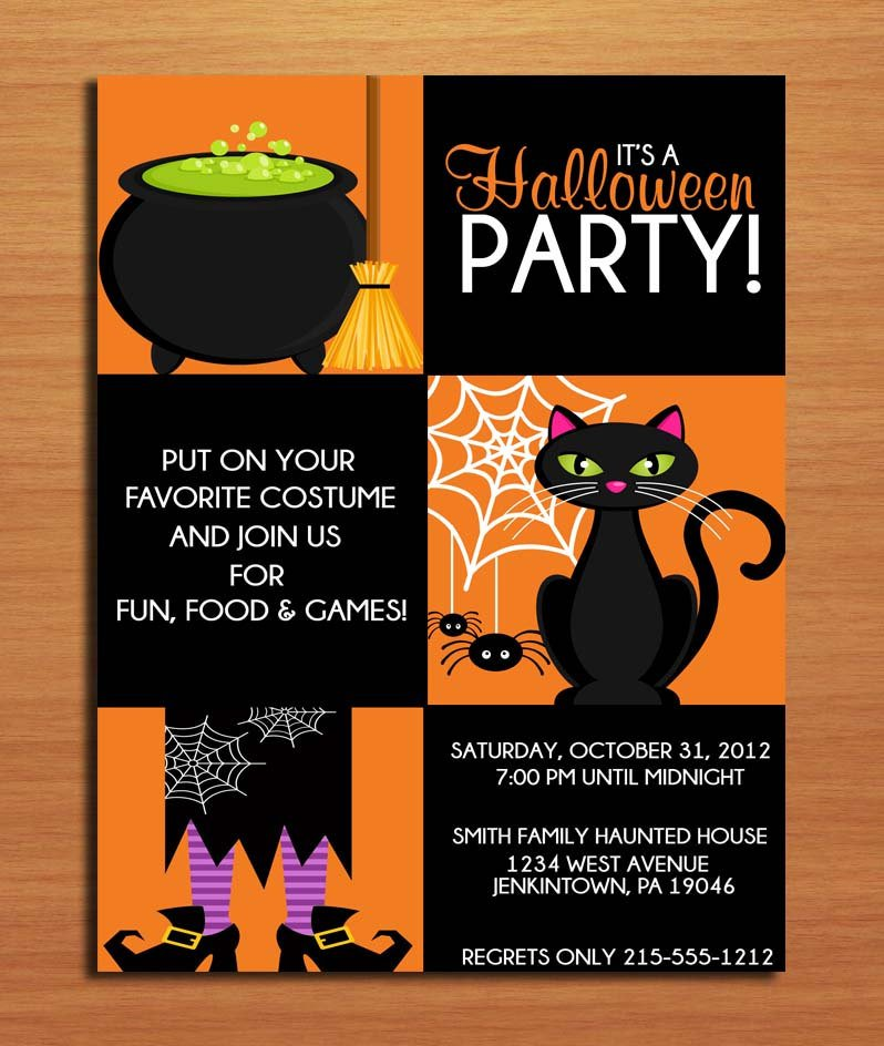 Printable Halloween Invitation Cards 2017