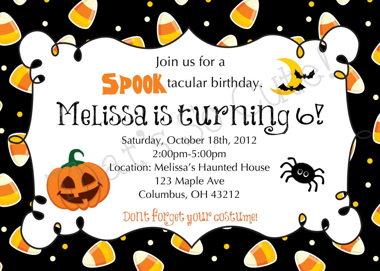 Printable Halloween Invitations Birthday