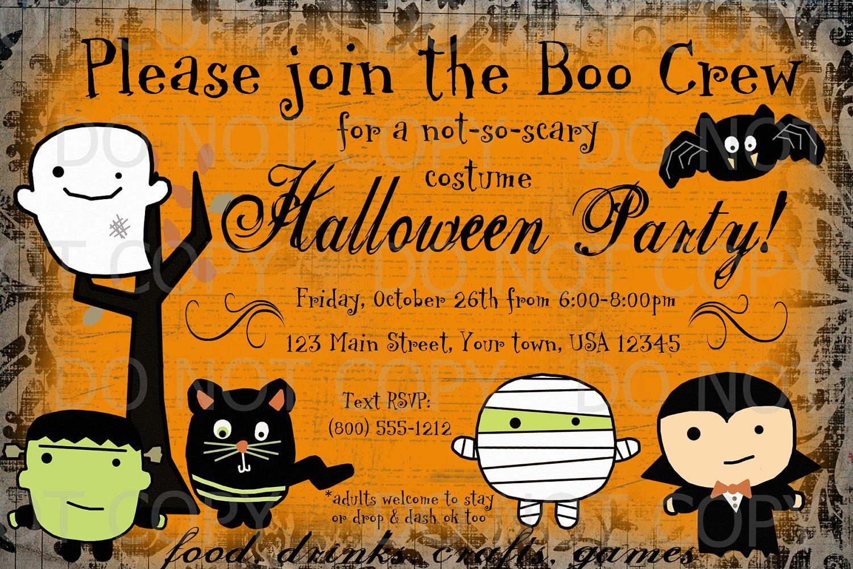 Printable Halloween Invitations To Color