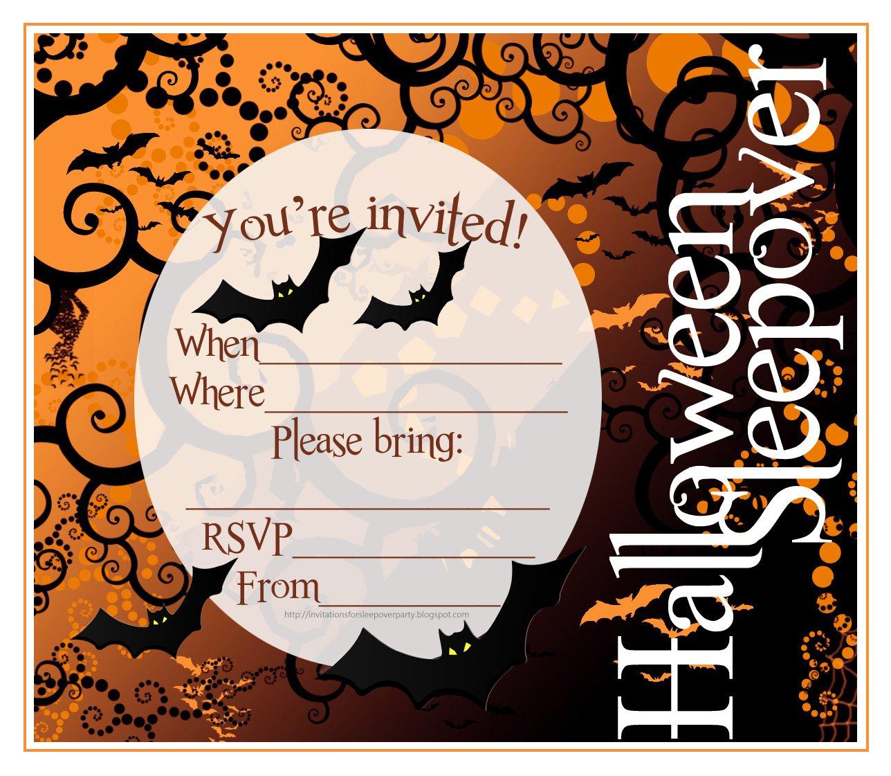Printable Halloween Invitations Uk