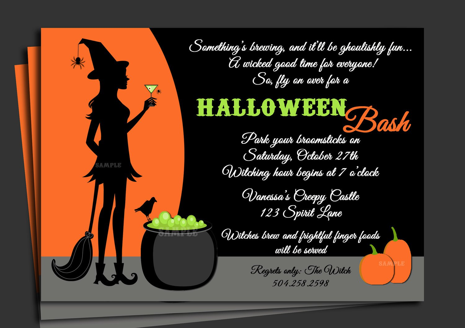 Printable Halloween Party Invitation Ideas