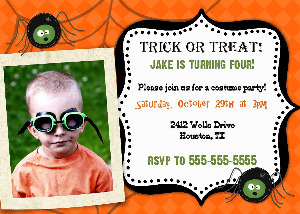 Halloween 1st Birthday Party Invitations. Halloween First Birthday ...