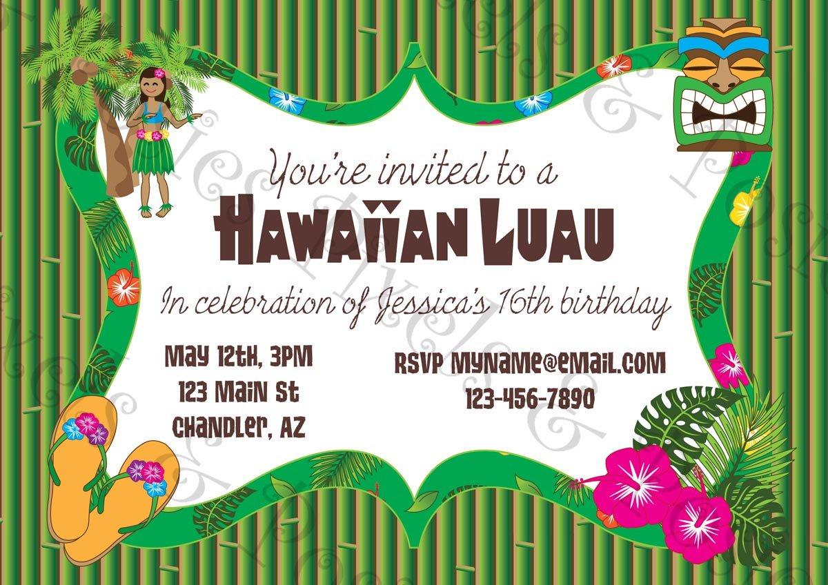 Printable Hawaiian Invitations Free