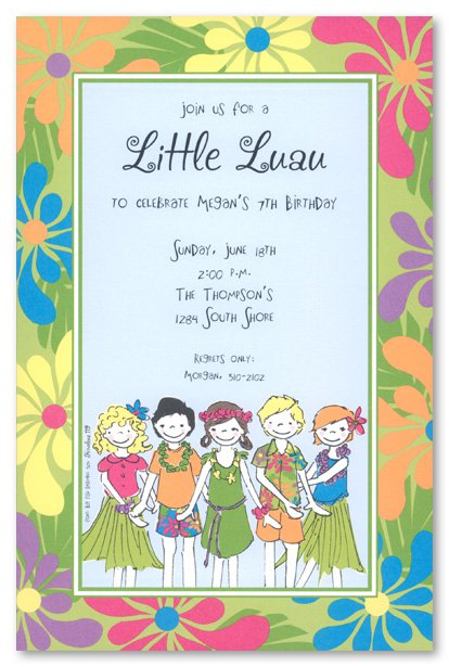 Printable Hawaiian Luau Party Invitations 2016