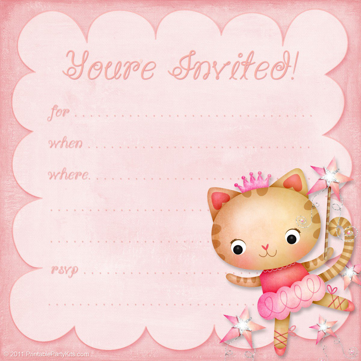 Printable Hello Kitty Birthday Invitation Cards 2018