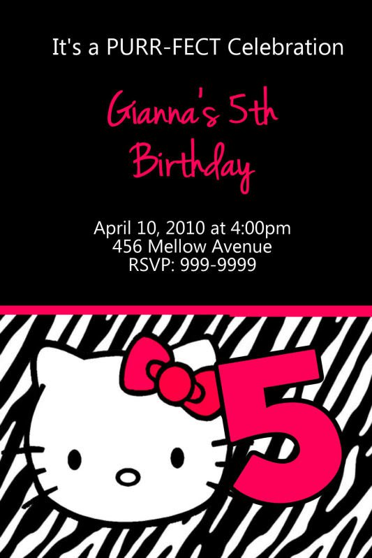 Printable Hello Kitty Birthday Invitations Free 2015