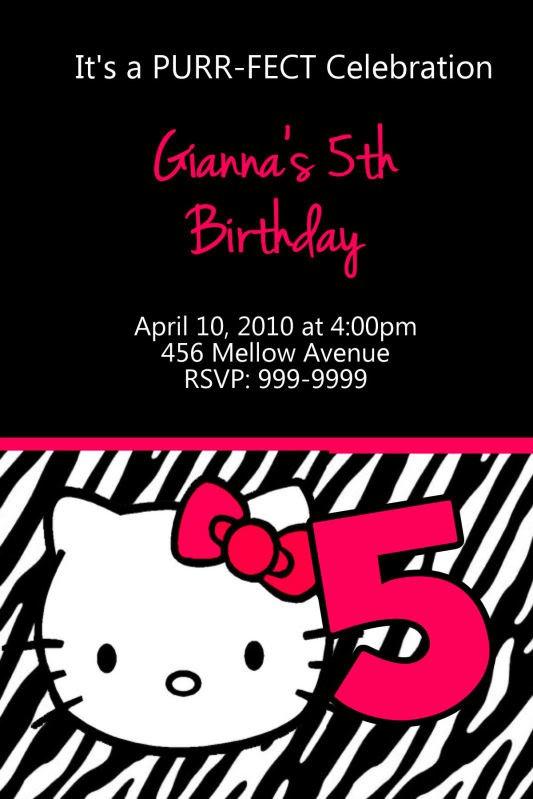 Printable Hello Kitty Birthday Invitations Free 2015