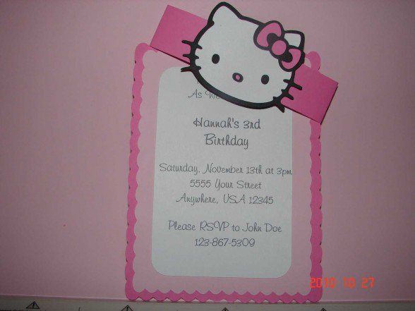 Printable Hello Kitty Birthday Invitations Free 2016