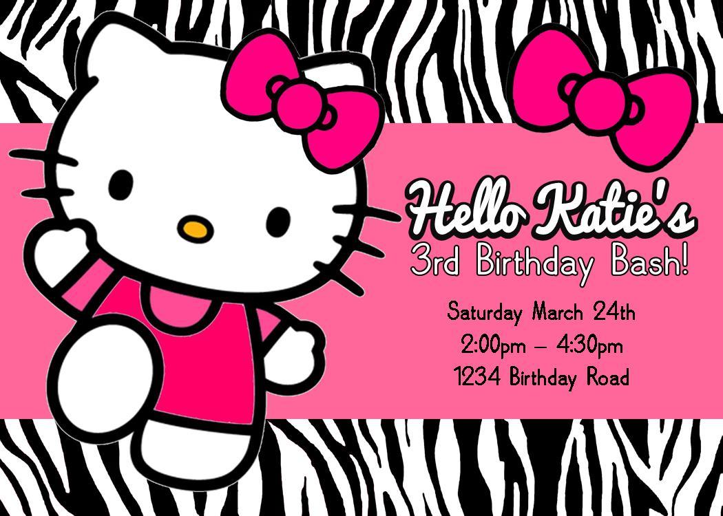 Printable Hello Kitty Birthday Party Invitations