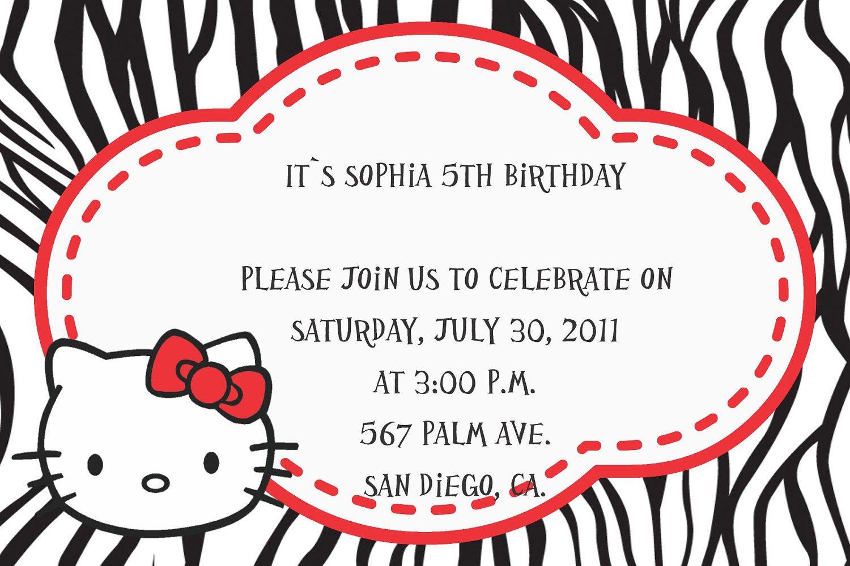 Printable Hello Kitty Party Invitations Free