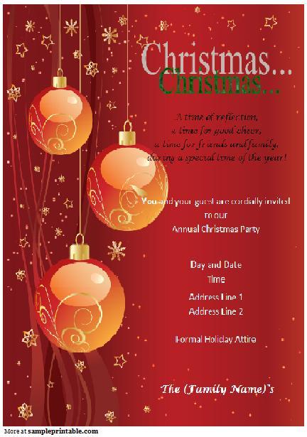 Printable Holiday Invitations 2018