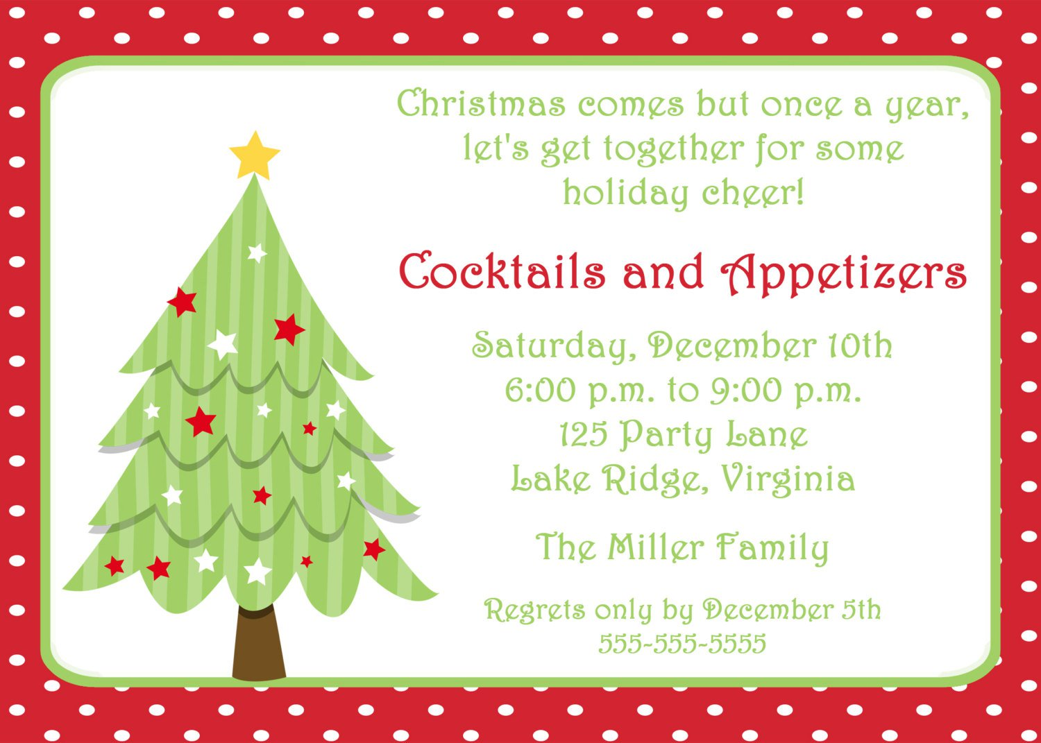 Printable Holiday Invitations Free