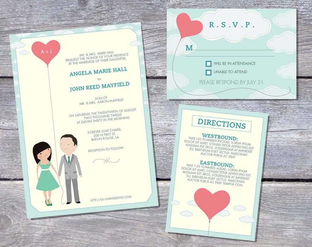 Printable Invitation Kits Wedding Free
