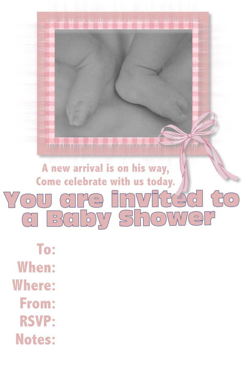 Printable Invitation Paper For Baby Shower