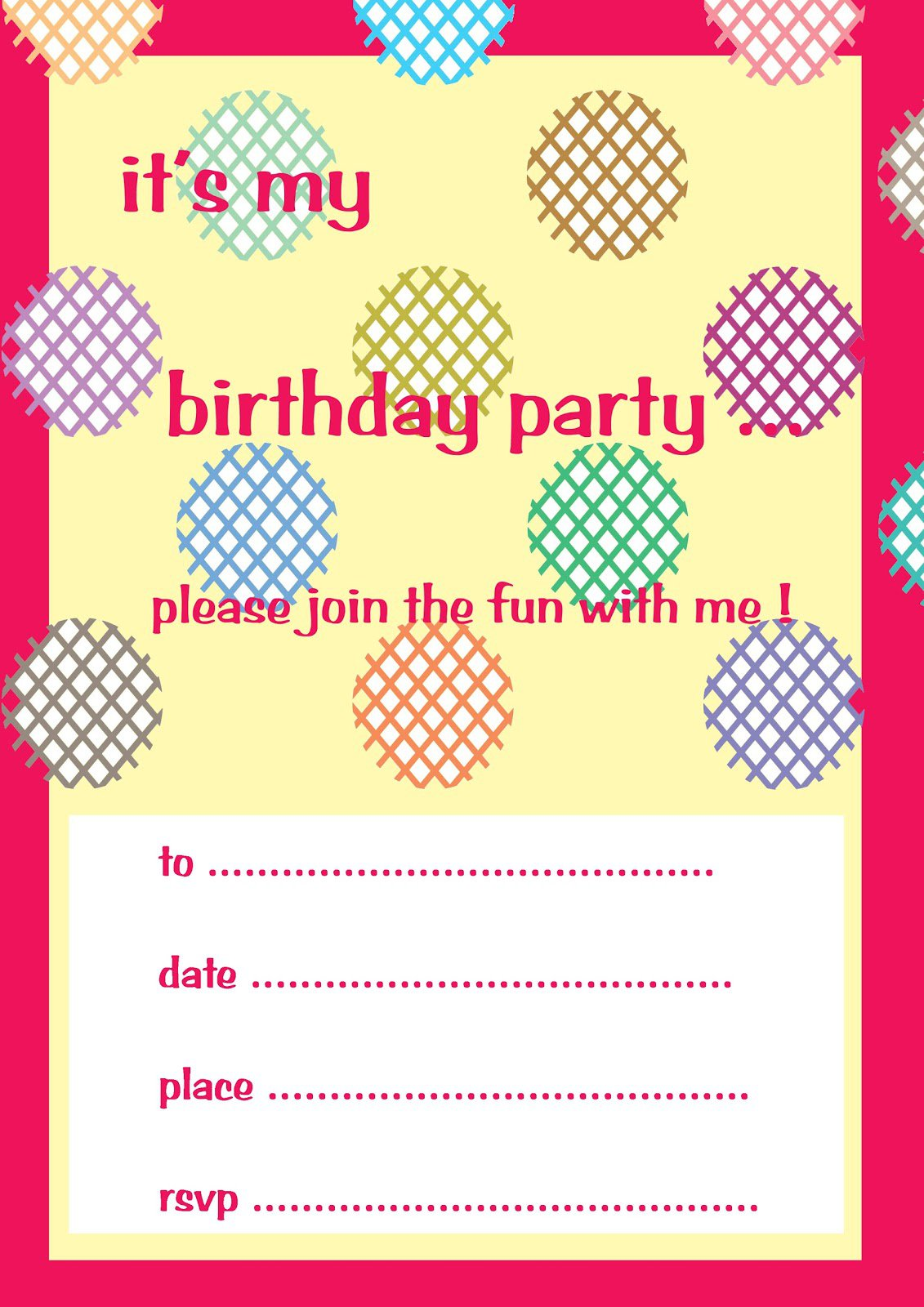 Printable Invitations For Kids Party 2015