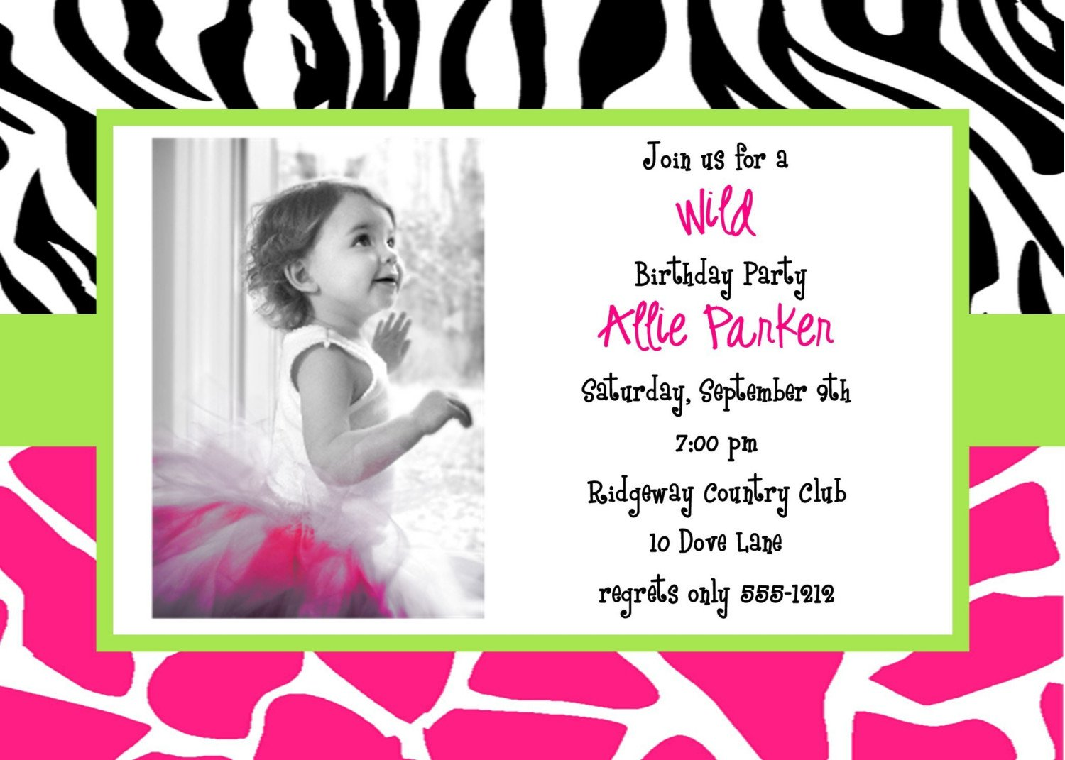 Printable Invitations Free Birthday For Kids