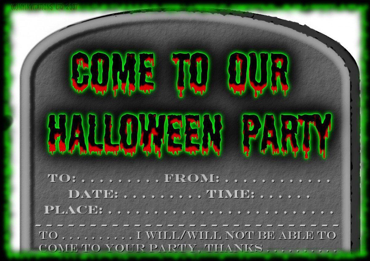 Printable Invitations Free Halloween 2018