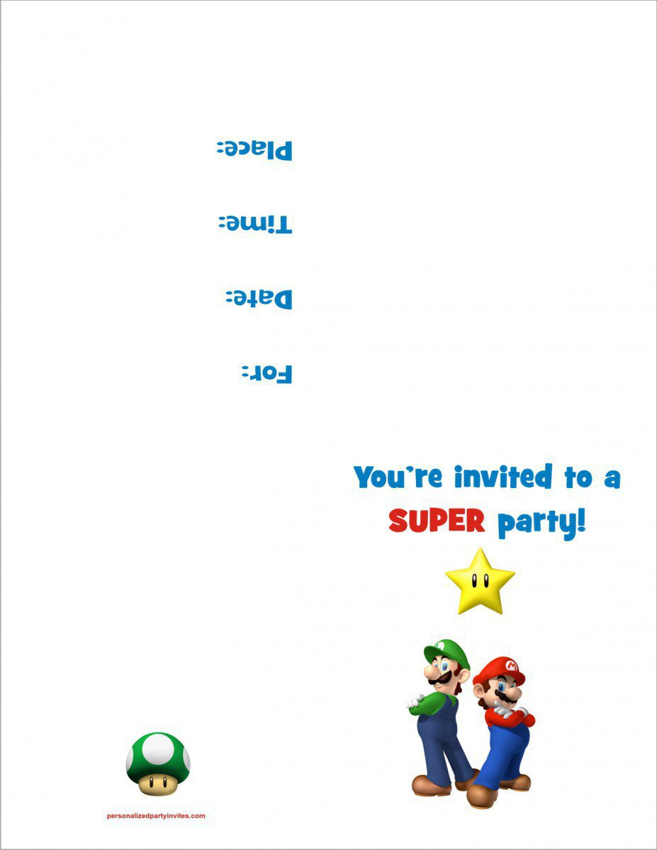 Printable Kids Birthday Party Invitations 2017