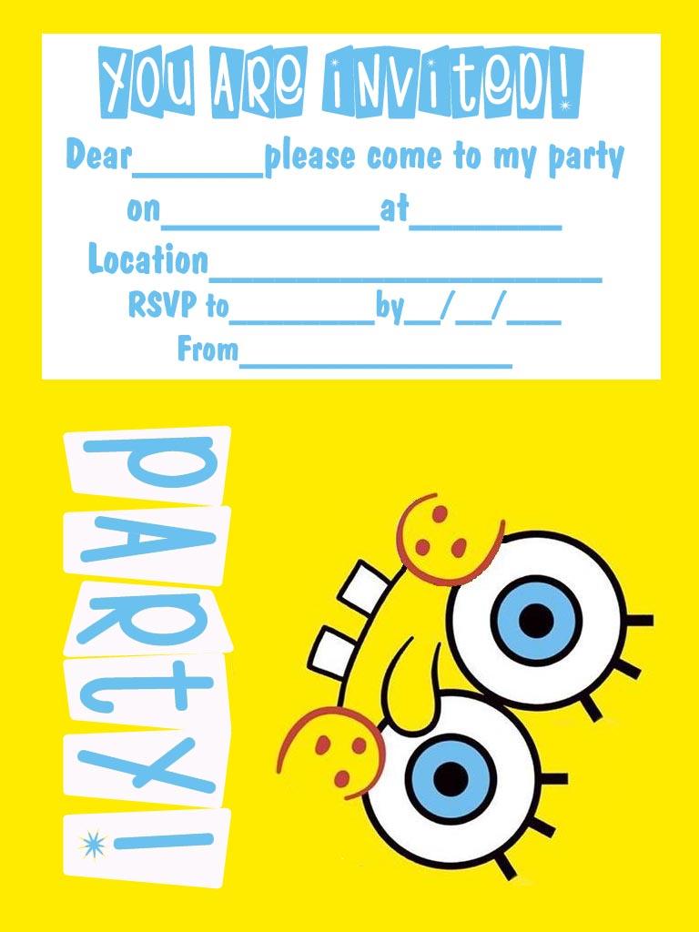 Printable Kids Birthday Party Invitations Free 2015