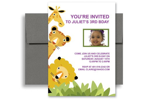 Printable Kids Birthday Party Invitations Templates 2016