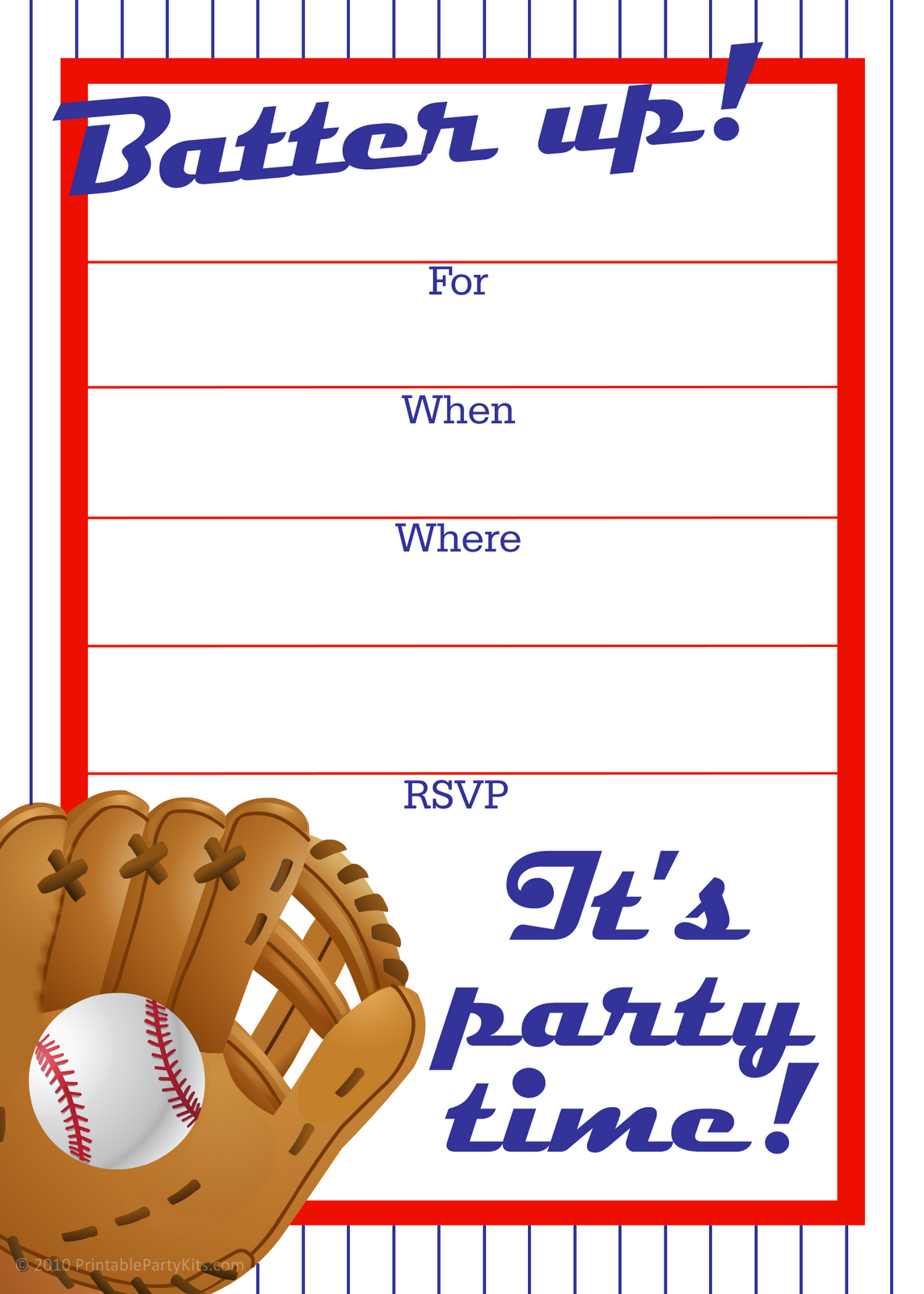 Printable Kids Party Invitation Templates