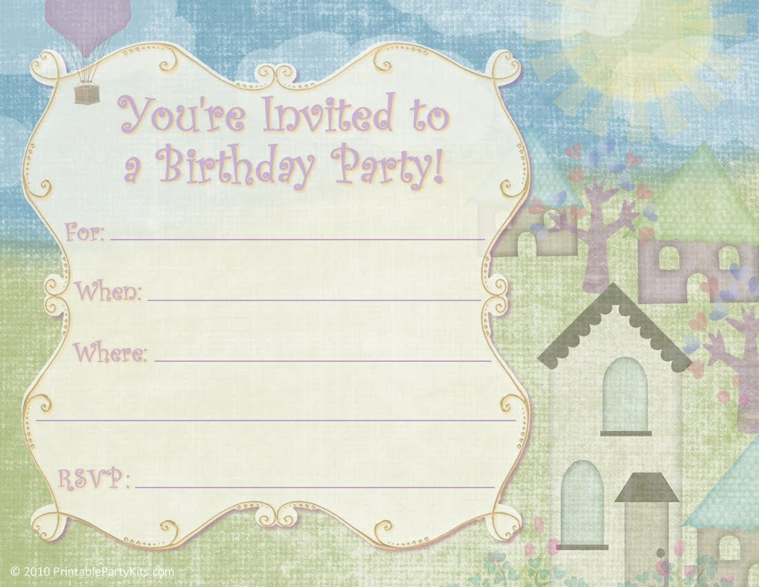 Printable Kids Party Invitations Free 2016