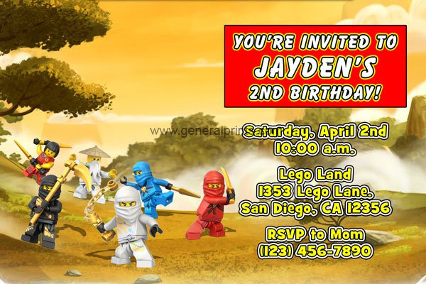 Printable Lego Birthday Party Invitations 2018
