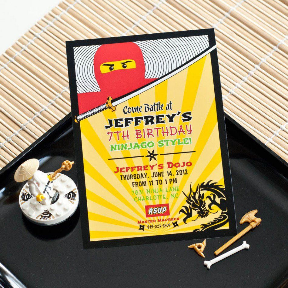 Printable Lego Birthday Party Invitations