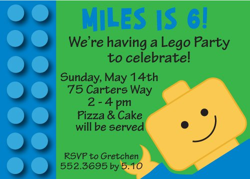 Printable Lego Invitations 2015