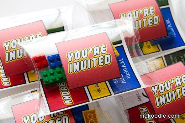 Printable Lego Invitations 2016