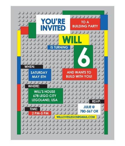 Printable Lego Invitations