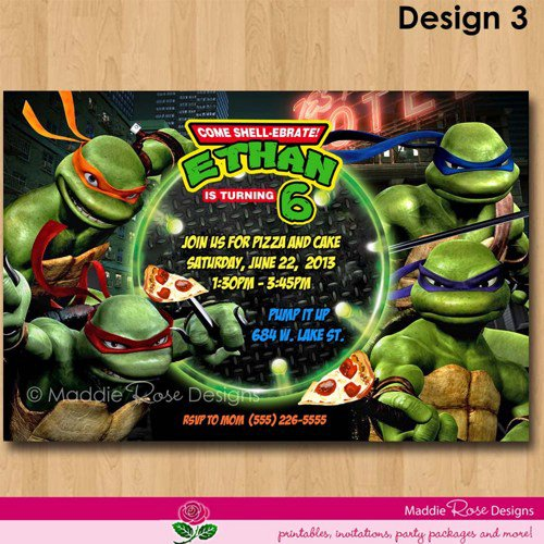 Printable Lego Ninjago Party Invitations