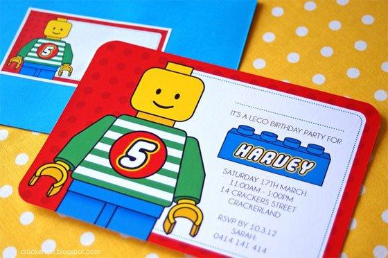 Printable Lego Ninjago Party Invitations Ideas 2015