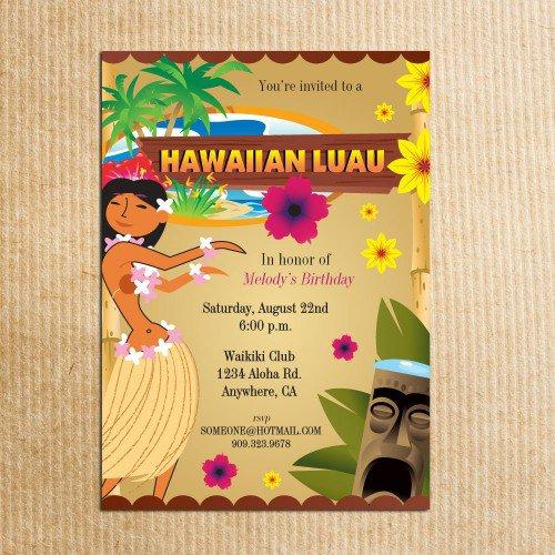 Printable Luau Birthday Invitations Free 2016