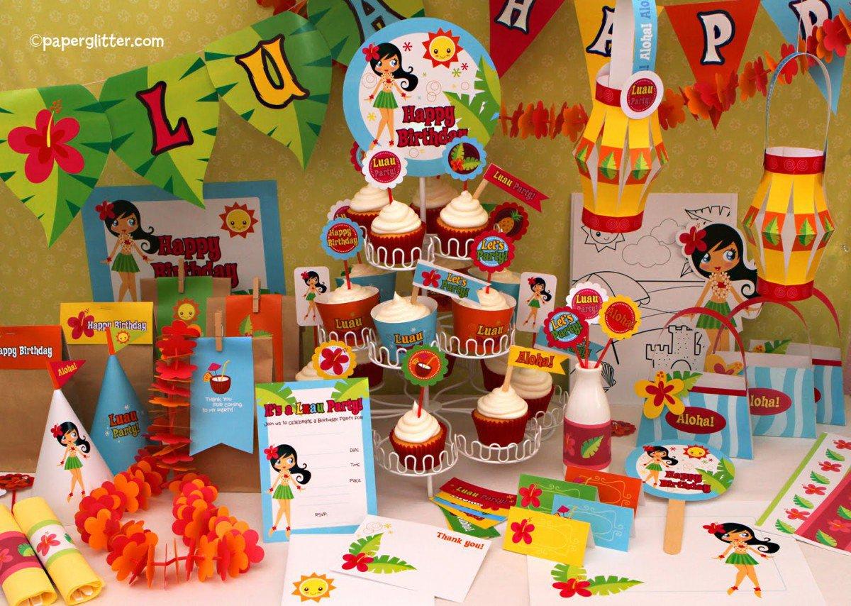 Printable Luau Birthday Invitations Free