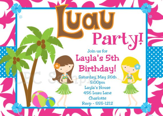 Printable Luau Invitations For Kids 2017