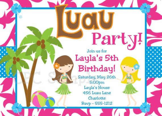 Printable Luau Invitations For Kids 2017