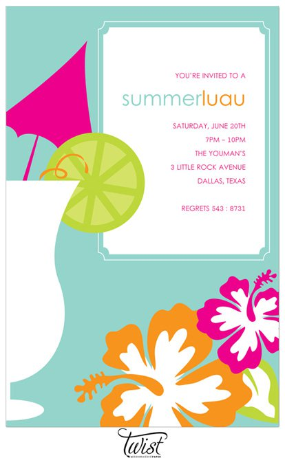 Printable Luau Invitations For Kids 2018
