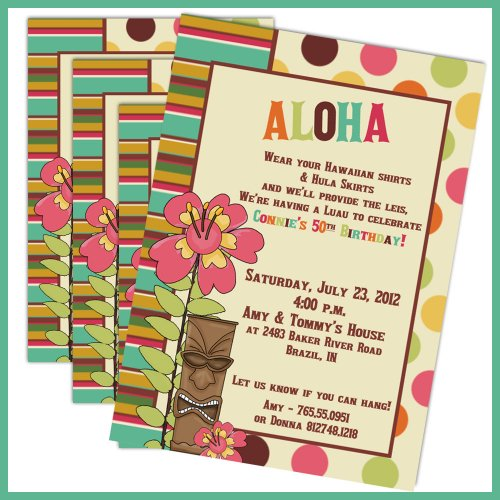 Printable Luau Invitations For Kids